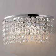 Cosmos Wall Light in Polished Chrome and Crystal - DIYAS IL30052